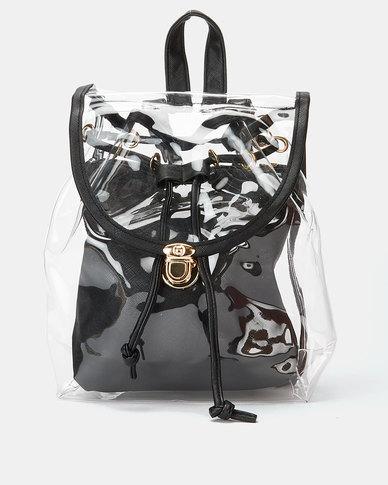 Utopia Transparent Backpack Black