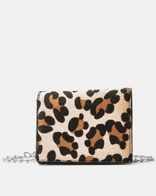 Utopia Thick Strap Crossbody Bag Leopard Print