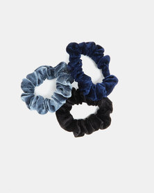 Utopia Scrunchie 3 Pack Black/Navy/Grey