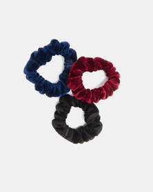 Utopia Scrunchie 3 Pack Black/Burgundy/Navy