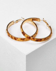 Utopia Tortoise Shell Hoop Earrings Neutrals