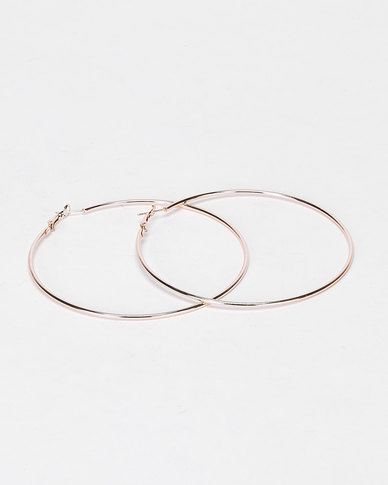 Utopia Basic Hoop Earrings Gold