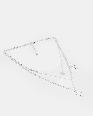 Utopia Pendant 3 Piece Necklace Silver