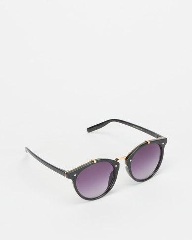Utopia Colour Lense Sunglasses Black/Purple