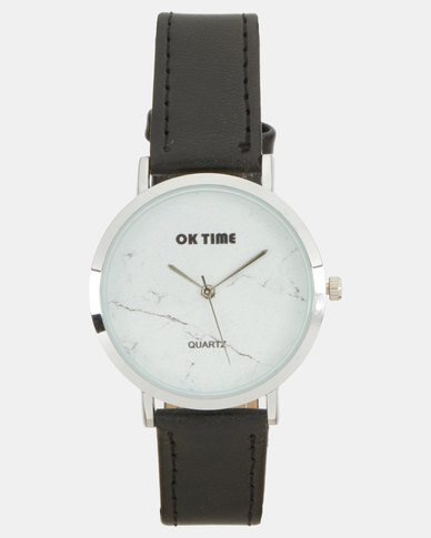 Utopia PU Strap Watch Black