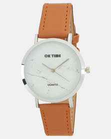 Utopia PU Strap Watch Tan