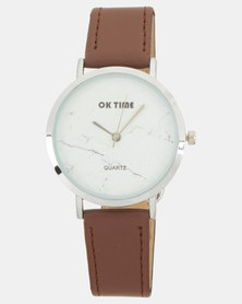 Utopia PU Strap Watch Brown