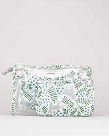 Utopia Cosmetics Bag Set Cat & Leaves  Multi