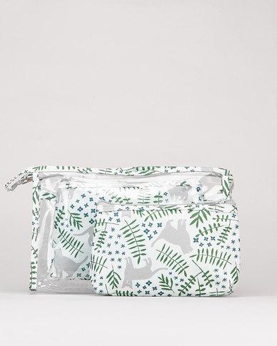 Utopia Cosmetics Bag Set Cat & Leaves  Multi
