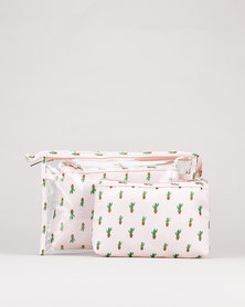 Utopia Cosmetics Bag Set Pineapple Pink