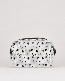Utopia Panda Bear Transparent Cosmetic Bag Multi