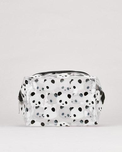 Utopia Panda Bear Transparent Cosmetic Bag Multi