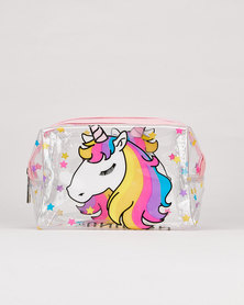 Utopia Unicorn Transparent Cosmetic Bag Multi