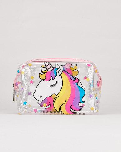 Utopia Unicorn Transparent Cosmetic Bag Multi