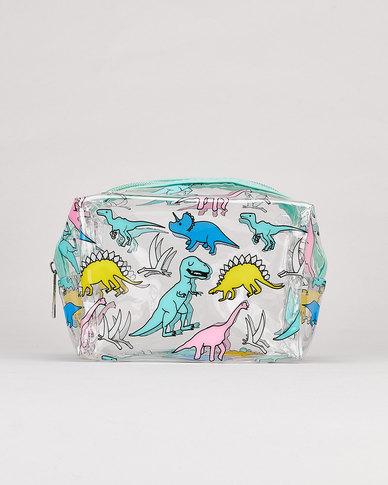 Utopia Dinosaur Transparent Cosmetic Bag Multi
