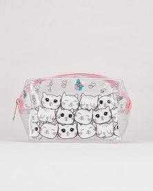 Utopia Cat Transparent Cosmetic Bag Multi