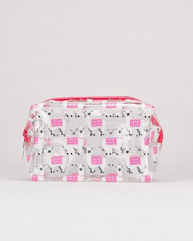 Utopia Slogan Transparent Cosmetic Bag Multi