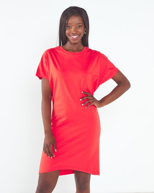 Utopia Tunic Dress with Pocket Red