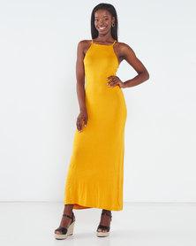 Utopia Maxi Knit Dress Yellow
