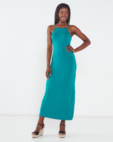 Utopia Maxi Knit Dress Teal