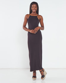 Utopia Maxi Knit Dress Black