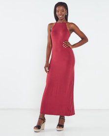 Utopia Maxi Knit Dress Orange