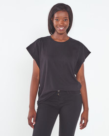 Utopia  Over Sized Tee Black