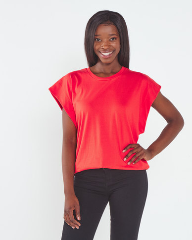 Utopia  Over Sized Tee Red