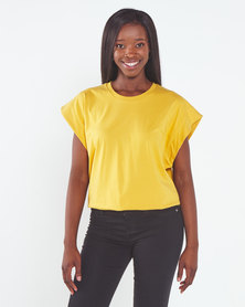 Utopia  Over Sized Tee Mustard