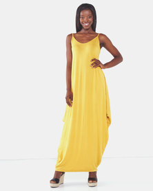 Utopia Harem Maxi Dress Mustard