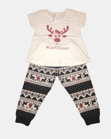 Cotton Club Christmas Santa Squad Girl Pyjamas