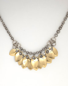 Apparition Aura Pendant Scalemaille Necklace - Champagne