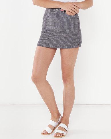 RVCA Rowdy Mini Skirt Grey