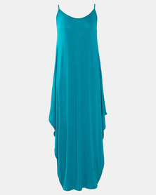 Utopia Teal Harem Maxi Dress