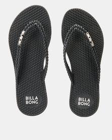 Billabong Kick Back Thongs Solid Black