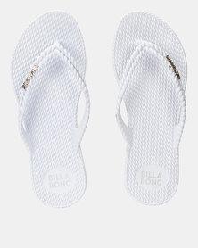 Billabong Kick Back Thongs Solid White