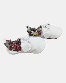 The Nunu Boutique Soft Sole Baby Shoes  - White Knott