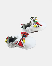 The Nunu Boutique Soft Sole Baby Shoes - Bow White