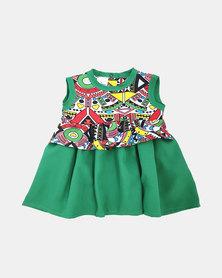 The Nunu Boutique Nu-bian Frill Waist Summer Dress - Green