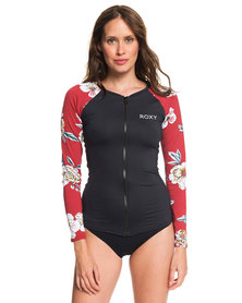 Roxy Sunny You Long Sleeve Zip Lycra Rashvest