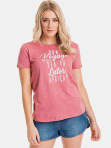 Roxy Bon Voyage Africa T-Shirt Mauvewood