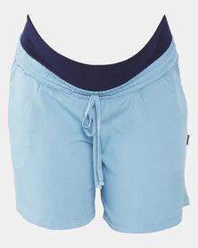 Cherry Melon Relaxed Shorts Light Indigo