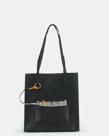 BELLINI Leather Tote Bag Black