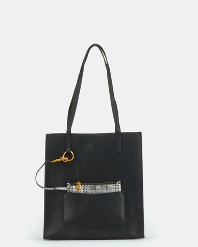 BELLINI Leather Tote Bag Black
