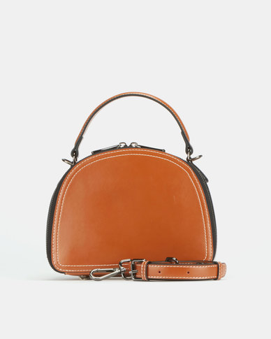 BELLINI Zip Around Camera Crossbody Bag Tan