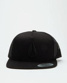 Nixon Deep Down Trucker Cap All Black