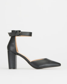 Utopia High Block Heels Black