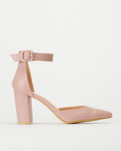 Utopia High Block Heels Dusty Pink