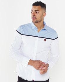 Soviet Cooper Blocked Shirt White