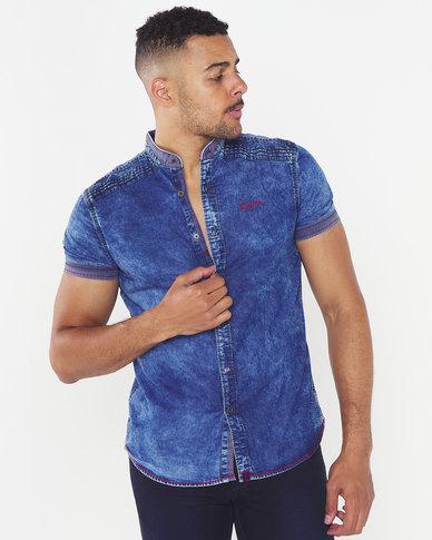 Soviet Granby Fashion Shirt Blue